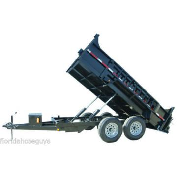 DUAL CYLINDER 7' x 14' Dump Trailer Kit with double acting KTI Pump