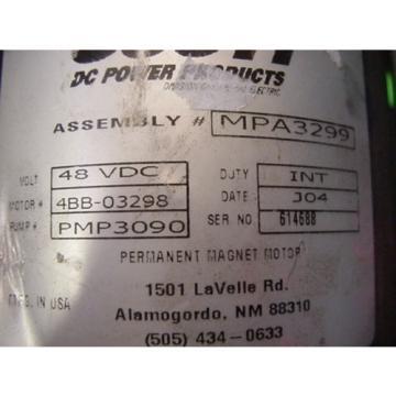 Casappa PLP10.1 hydraulic pump SCOTT DC MOTOR 48 VDC 4BB-03298