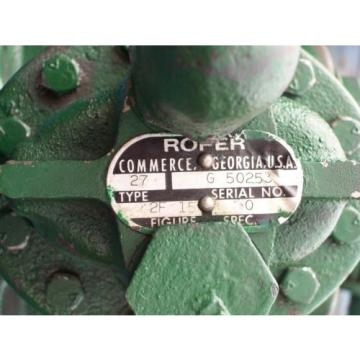 ROPER HYDRAULICS PUMP TYPE 27 2F15 , 2F 15