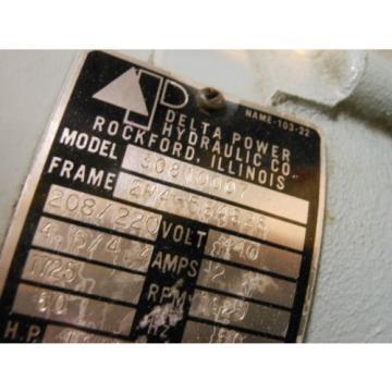 Delta Power Hydraulics Model B4 Hydraulic Pump 3 PH  1.5 HP #3