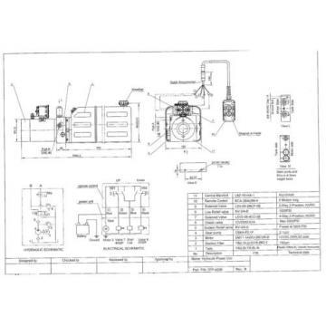 4206C Dump Trailer Hydraulic Power Unit,12V Double Acting,6L Metal Tank, OEM