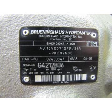 NEW BRUENINGHAUS AA10VS071DFR/31R 02400347 VARIABLE DISPLACEMENT HYDRAULIC PUMP
