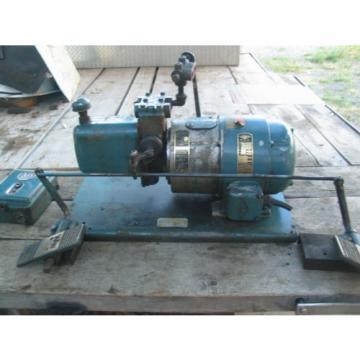 3HP WHITNEY Hydraulic Pump 3ph/220/480 w/Tank,Valves,Dualfoot control