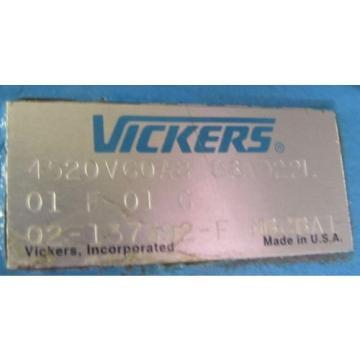 "VICKERS 4520V60A8 86AD22L 01 F 01 G HYDRAULIC PUMP 1-1/2"" SHAFT REBUILT"