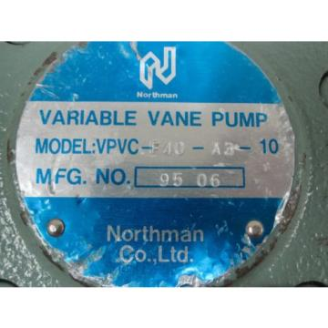 NORTHMAN VARIABLE VANE PUMP VPVC-F40-A3-10