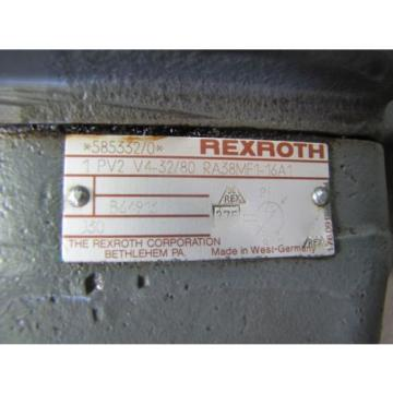 REXROTH 1PV2V4-32/80 RA38MF1-16A1 ROTARY VARIABLE VANE HYDRAULIC PUMP