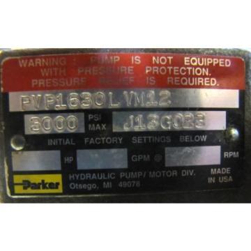 "PARKER PVP1630LVM12 3000 PSI 3/4"" SHAFT HYDRAULIC PISTON PUMP REBUILT"