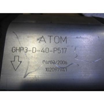 NEW ATOM HYDRAULIC PUMP # GHP3-D-40-P517