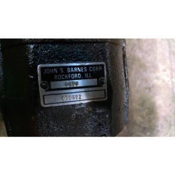 John S. Barnes Forklift Tang Drive Hydraulic Pump Crown Raymond 6490