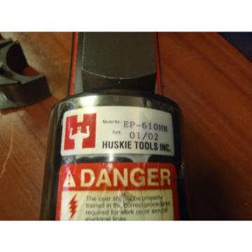 SOMERSET UT10-A1 HYDRAULIC PUMP & HUSKIE EP-610HN HYDRAULIC CRIMPER W/DIE,CASES