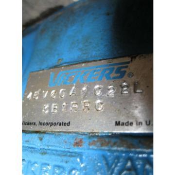 VICKERS  HYDRAULIC VANE PUMP 45V60A1C22L 3B1RRC Used