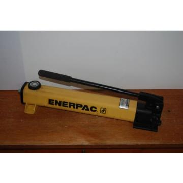 "ENERPAC P-202 HYDRAULIC HAND PUMP 10,000PSI 2 SPEED SINGLE ACTING 1/4"" NPT NICE"