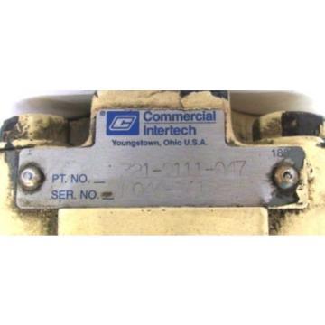 COMMERCIAL INTERTECH HYDRAULIC PUMP 321-9111-047, N044-2415