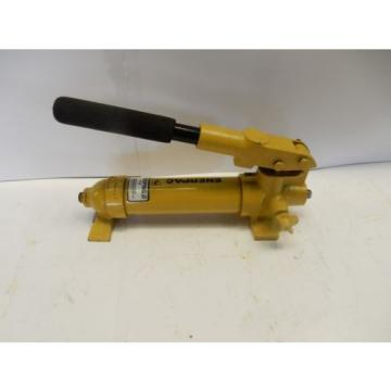 "ENERPAC P-18 HYDRAULIC HAND PUMP 2850 PSI MAX 1SPEED 3/8"" NPT"