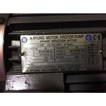 A-Ryung Motor T-Rotor Pump 750-220HAVB