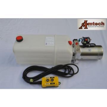 3208 Dump Trailer Hydraulic Power Unit,12V Single Acting,8L Poly Tank, OEM