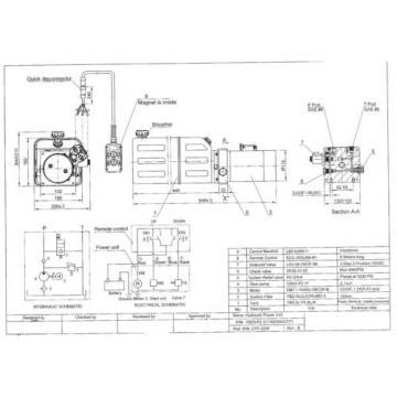 3208C Dump Trailer Hydraulic Power Unit,12V Single Acting,8L Metal Tank, OEM