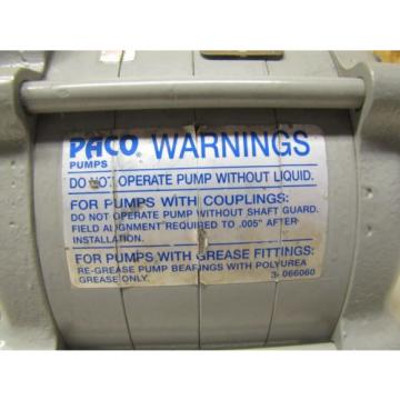 PACO PUMPS HYDRAULIC PUMP MOTOR 27-12415-SS 99R20208 A STAINLESS STEEL S/S