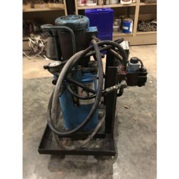 VICKERS POWER SYSTEM, MOD# TK5V-V15F-M-N-GF30-F1-B2-069, BALDOR MOTOR, 2 HP,USED