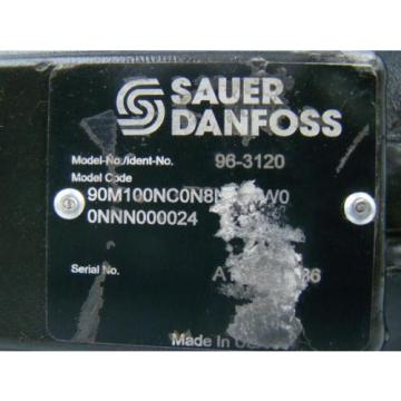 SAUER DANFOSS AXIAL PISTON HYDRAULIC MOTOR 1.74 SHAFT 90M100NC0N8N0F1