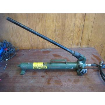 SIMPLEX P42 HYDRAULIC HAND PUMP With Hose 10,000PSI Free Shipping Used