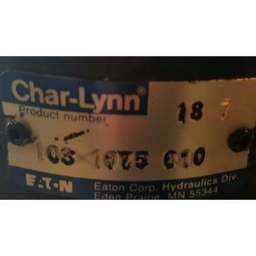 103-1075-010, Charlynn Hydraulic S Series Motor, 93 cm3/rev, 5.7 in3/rev