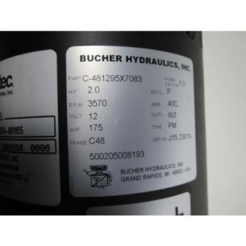BUCHER HYDRAULIC MOTOR ASSEMBLY C-481295X7083 2HP NEW