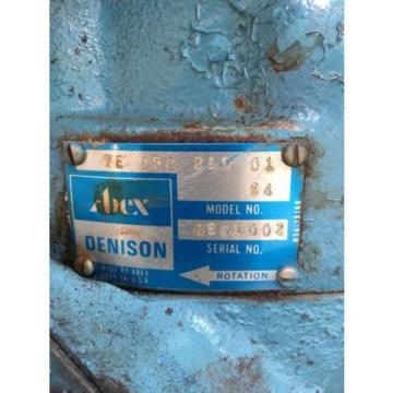 Abex Denison Hydraulic Pump Model 8B01002 TE 050 21 01
