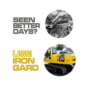 6x IRON GARD Spray Paint KOMATSU YELLOW Excavator Digger Dozer Loader Skid Steer