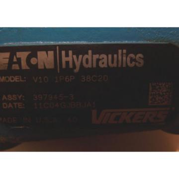 NEW EATON VICKERS HYDRAULIC SINGLE VANE DISPLACEMENT PUMP V101P6P38C20