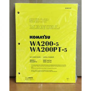 Komatsu WA200-5H, WA200PT-5H Wheel Loader Shop Service Repair Manual