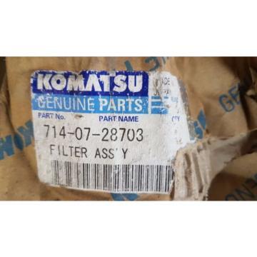 New Komatsu Filter Ass'y 714-07-28703 / 7140728703 Japan