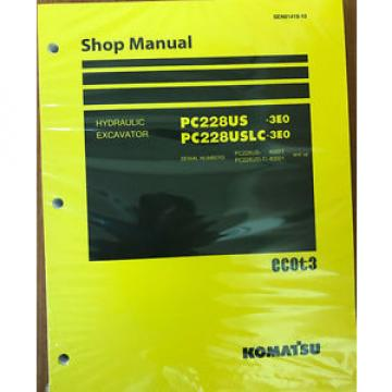 Komatsu PC228USLC-3E0, PC228US-3E0 Service Repair Printed Manual