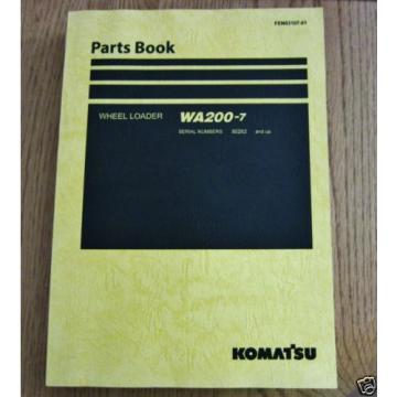 KOMATSU WHEEL LOADER WA200-7 PARTS BOOK SER # 80262 AND UP