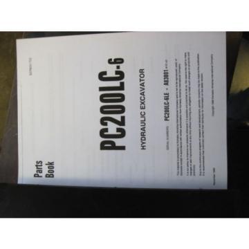 KOMATSU PC200LC-6 Excavator PARTS Catalog Book Manual