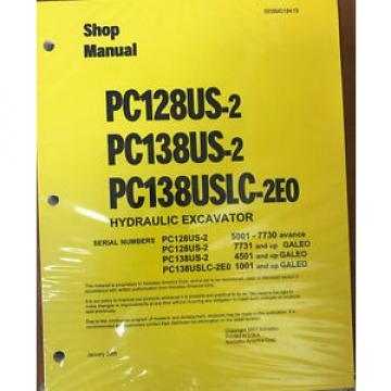 Komatsu Service PC128US-2, PC138US/USLC-2 Shop Manual