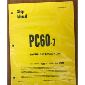 Komatsu Service PC60-7 Excavator Shop Manual #2