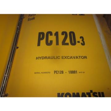 Komatsu PC120-3 Hydraulic Excavator Parts Book Manual