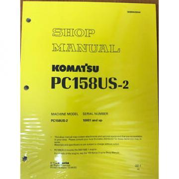 Komatsu Service PC158US-2, PC158USLC-2 Shop Manual NEW