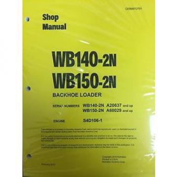 Komatsu WB140-2N, WB150-2N Backhoe Service Shop Manual