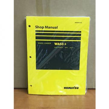 Komatsu WA50-6 Wheel Loader Shop Service Repair Manual