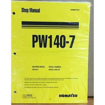 Komatsu Service PW140-7 Excavator Shop Manual NEW REPAIR