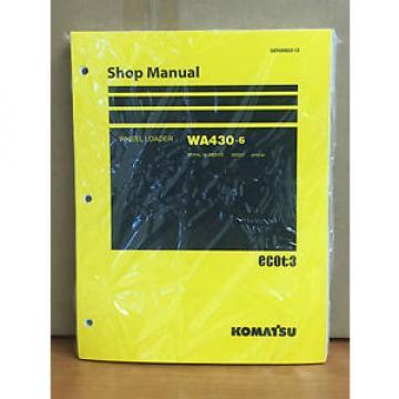 Komatsu WA430-6 Wheel Loader Shop Service Repair Manual (65001 & up)