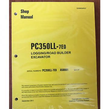 Komatsu Service PC350LL-7E0 Shop Repair Manual NEW