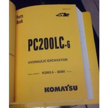 PARTS MANUAL FOR PC200LC-6 SERIAL A83001 AND UP KOMATSU CRAWLER EXCAVATOR