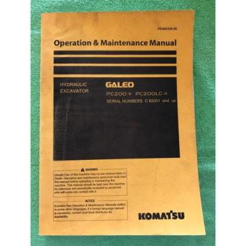 Komatsu PC200LC-8 PC200-8 Service Repair Manual C 60001 and Up. PEN00108-00