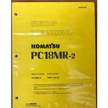 Komatsu Service PC18MR-2 Shop Repair Manual NEW