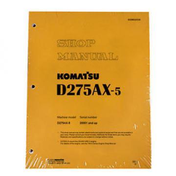 Komatsu D275AX-5 Service Repair Workshop Printed Manual
