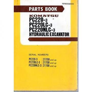 Komatsu PC220-3 LC-3  NLC-3 Hydraulic Excavator Parts Book 1986 7337E
