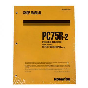 Komatsu Service PC75R-2 Excavator Shop Manual NEW #1